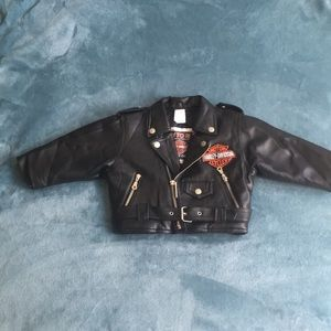 Toddler Harley cycle coat